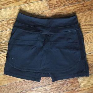 Lululemon skirt shirt compression shorts black 4